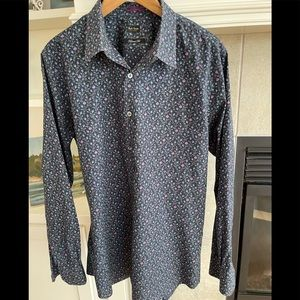 Paul Smith Exclusive Floral Tailored Fit 17.5